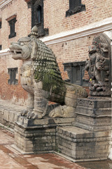 Statue of Mythical Beast. Durbar Square, Bhaktapur, Nepal