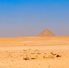 Red pyramid at Dahshur, Cairo, Egypt