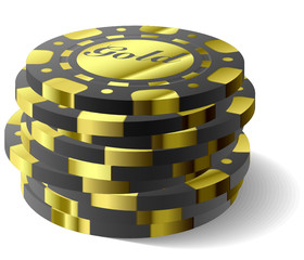Vector gambling chips