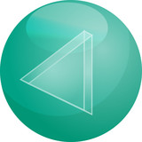 Rewind Audio icon illustration, triangle with line