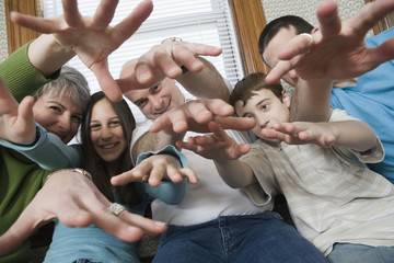 Family gesturing