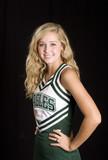 beautiful blond cheerleader in uniform poster