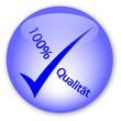 """""""100% Qualität""""  Button (Deutsch)"""