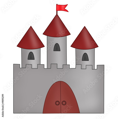 Cartoon drawn castle