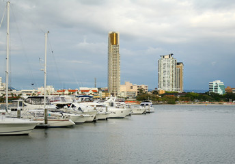 View of Southport Gold Coast Australia from the Broadwater.