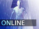 Online illustration, digital virtual avatar abstract poster