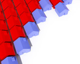 fine image 3d of house metaphor background poster
