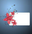 An abstract floral banner design