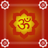 Spiritual Om Background poster