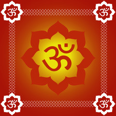 Spiritual Om Background