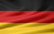 Leinwanddruck Bild - Deutsche Flagge