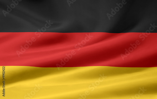 Leinwanddruck Bild Deutsche Flagge