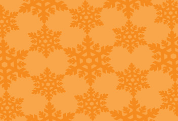 orange snowflakes background