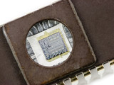 EPROM memory microchip with a transparent window poster