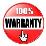 100% warranty poster