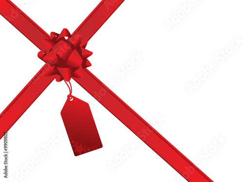 Red bow and gift card