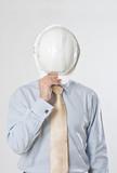 casque travaux public chantier cadre homme protection métier bat poster