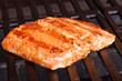 Grilled salmon with barbecue sauce