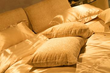 modern bed room designed interior