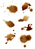 Fototapety collection of coffee splashes