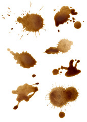 collection of coffee splashes © Kerstin Schoene