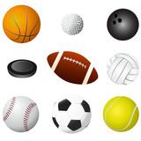 sport balls detail vector poster