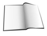 Blank White Magzine / Booklet poster