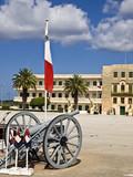 MALTA - OCTOBER 05 2008 - Armed Forces of Malta barracks at Luqa poster