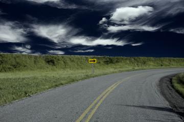 Turn in road