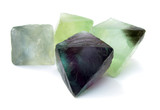 Fluorite cleaved stone four gemstones poster