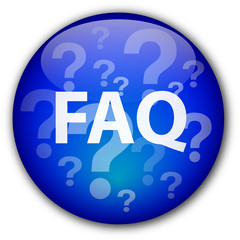 FAQ button with question marks