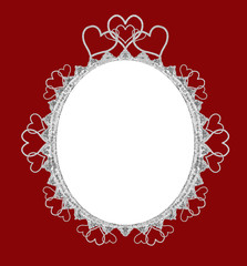 True Love Oval Frame - with isolated clipping path