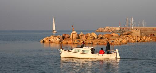 départ en mer