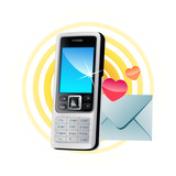 Icon mobile Phone (sms) poster