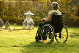 Disabled  woman in a wheelchair poster