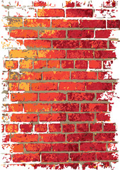 Wall brick background