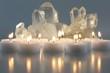 Bergkristall mit Kerzen