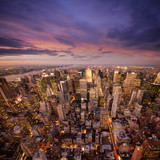 big apple at sunset - Fine Art prints