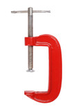 Tool - red clamp isolated on white background poster
