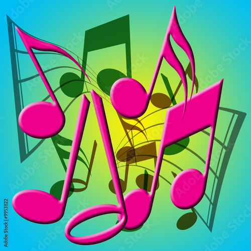 musical notes background. A Colorful Musical Notes