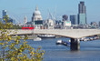 london skyline across the river thames
