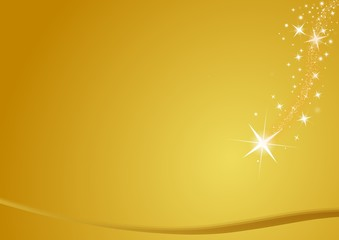 merry christrmas stars, gold background