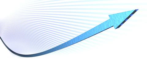 Rising Graph- blue