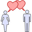 symbol people couple talk love in hearts