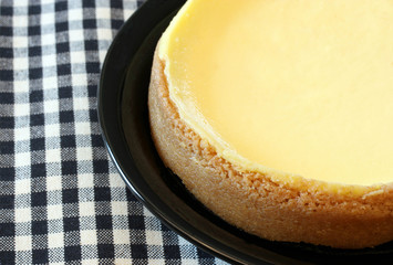 Partial cheese cake close-up
