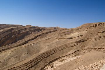 Rough mountains landscape of the Israeli Negev Desert