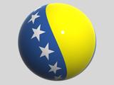 National Flag. Bosnia and Herzegovina poster
