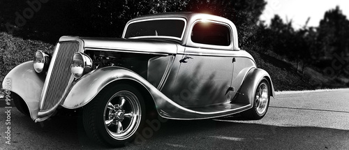 Poster Oude auto s hotrod