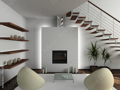 Interior Design Livingroom on Foto  Modern Design Interior Of Living Room  3d Render    George Mayer