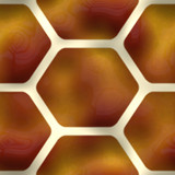 A brown seamless pattern with hexagon shapes. poster